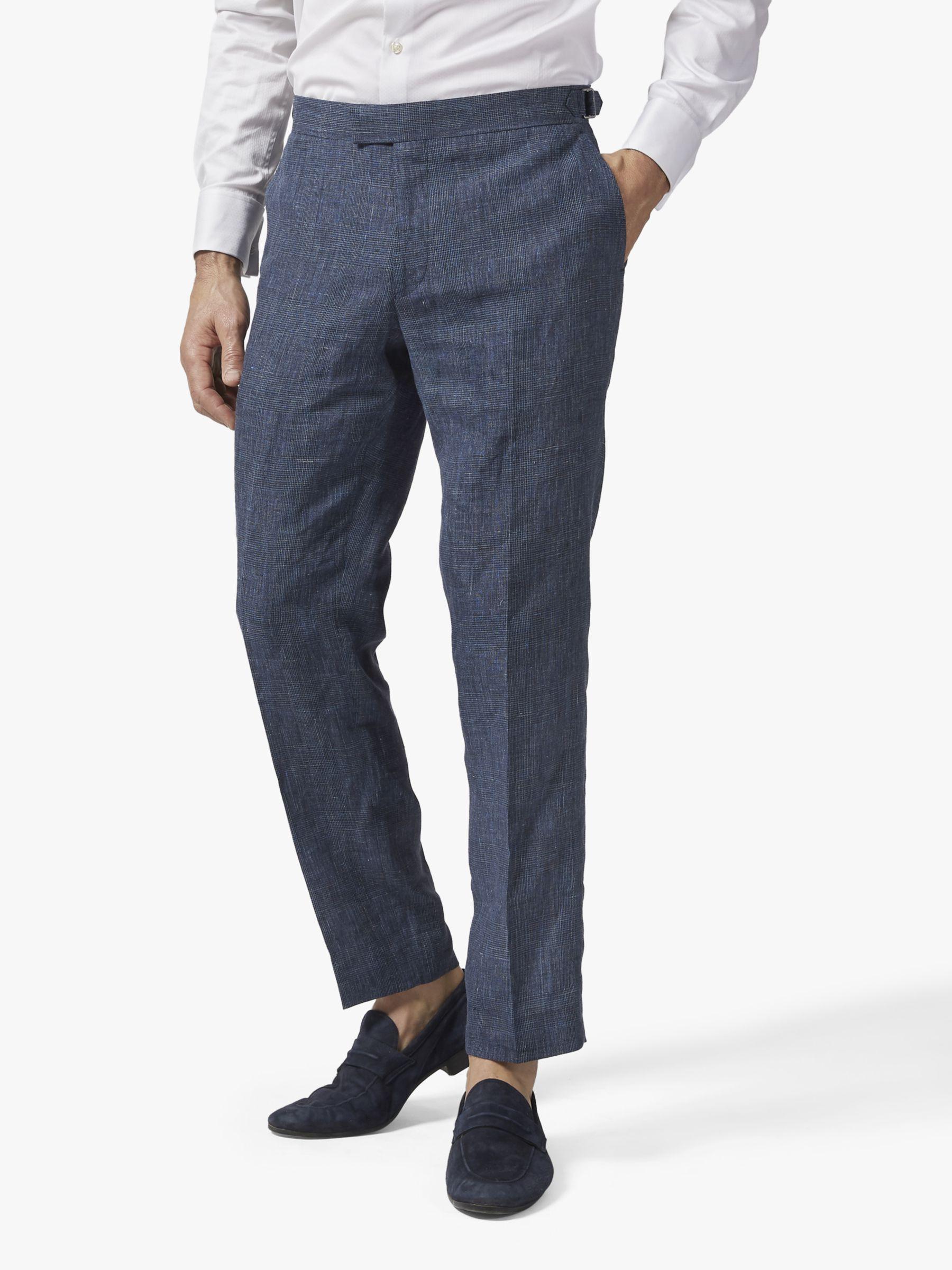 Richard James Mayfair Richard James Mayfair Italian Linen Suit Trousers, Navy