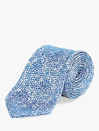 Richard James Mayfair Multi Spot Silk Tie, Blue