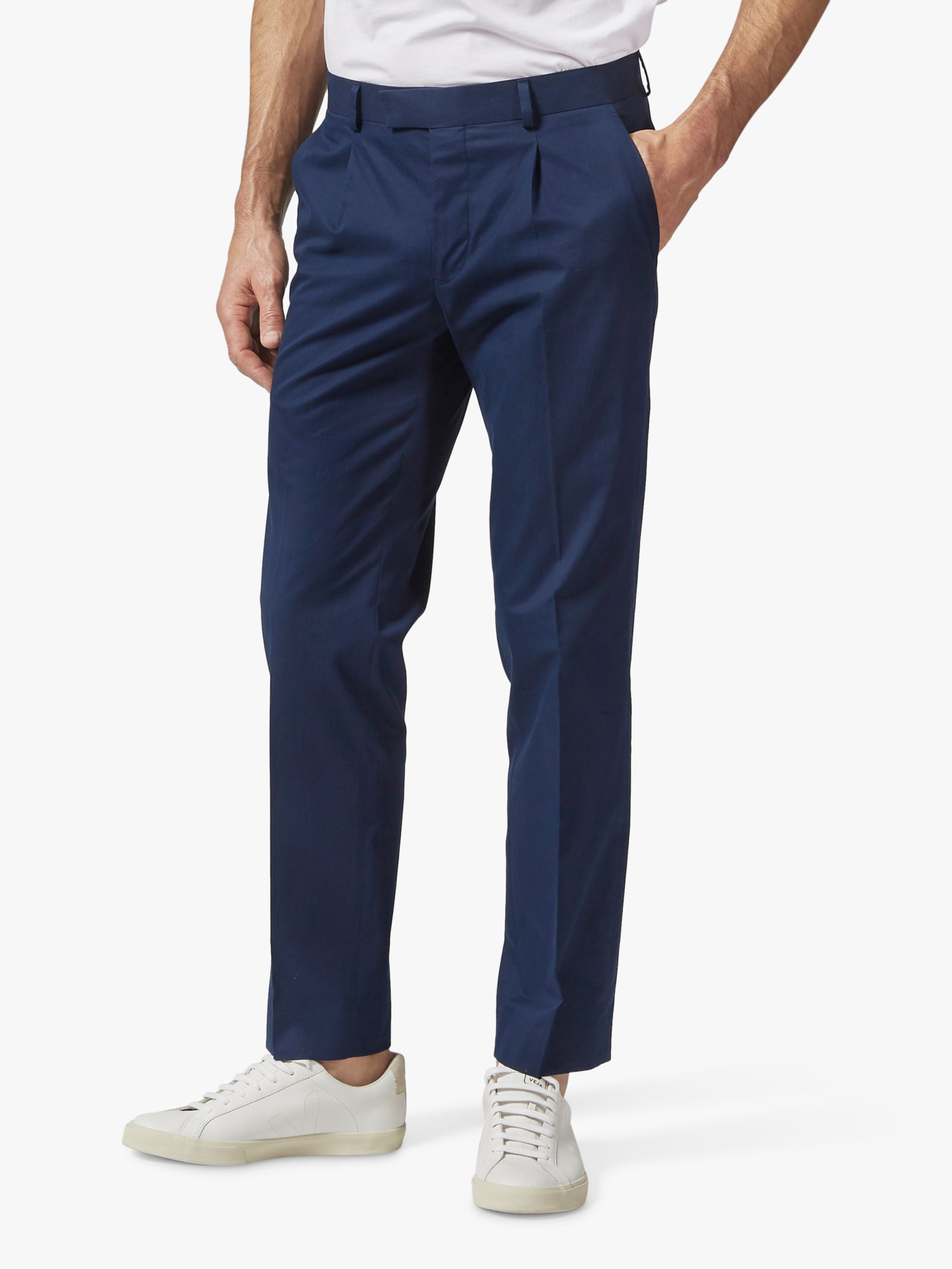 Richard James Mayfair Richard James Mayfair Italian Cotton Tailored Suit Trousers, Navy