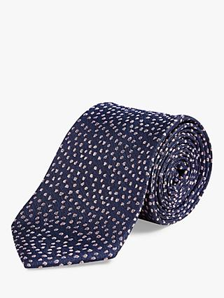 Richard James Mayfair Casual Spot Silk Tie, Navy