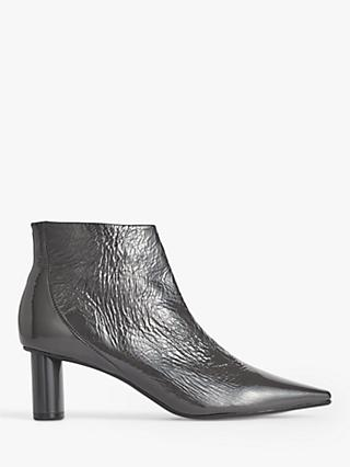 Jigsaw Alda Leather Smart Ankle Boots, Steel