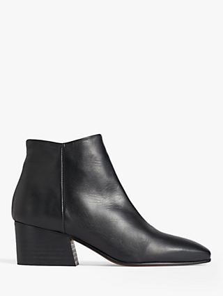 Jigsaw Dapper Block Heel Leather Ankle Boots