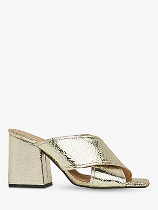 Whistles Ayres Cross Strap Leather Heel Sandals