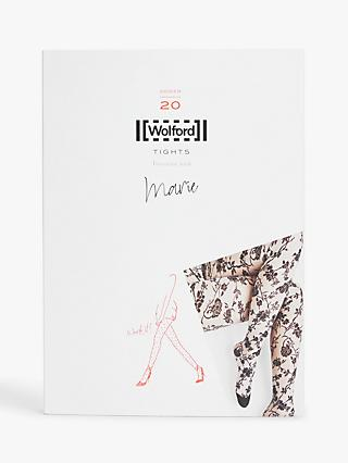 Wolford 20 Denier Marie Floral Tights, Black