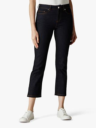 Jaeger Side Split Cropped Jeans, Indigo
