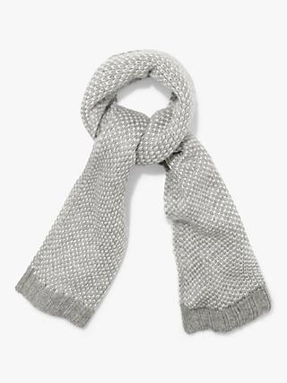 Phase Eight Kayla Knitted Scarf, Grey/Ivory