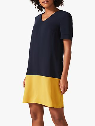 Phase Eight Jodie Colour Block Dress, Navy
