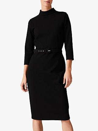 Phase Eight Sheree High Neck Fitted Dress, Black
