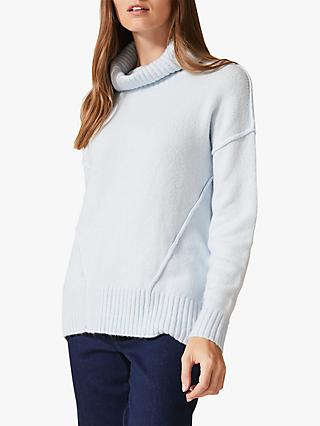 Phase Eight Saverine Exposed Seam Jumper, Pale Blue