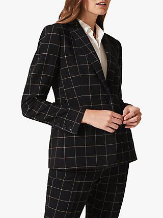 Phase Eight Toni Check Suit Jacket, Black