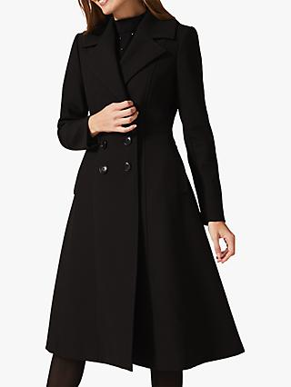 Phase Eight Sandra Swing Coat, Black