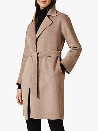 Phase Eight Daisy Double Faced Coat, Natural