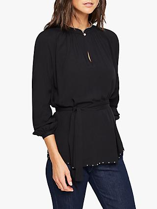 Damsel in a Dress Isbel Metal Trim Blouse, Black