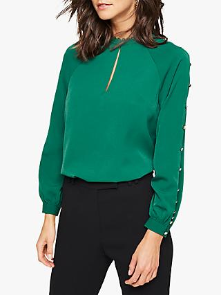 Damsel in a Dress Evonne Button Blouse, Green