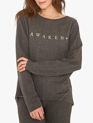 M Life Nirvana Awaken Edge Sweat Yoga Top, Flint Melange