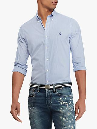 Polo Ralph Lauren Slim Fit Stripe Shirt, Blue/White