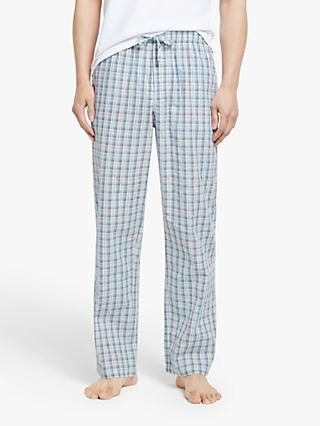 John Lewis & Partners Organic Cotton Micro Check Pyjama Pants, Multi