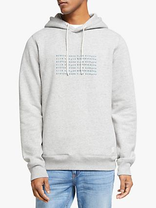 Scotch & Soda Clean Basic Hoodie, Grey Melange