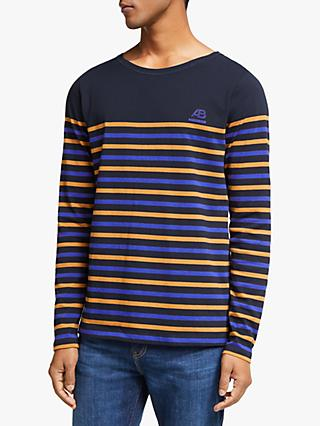 Scotch & Soda Multi Breton Stripe Long Sleeve T-Shirt, Comba A