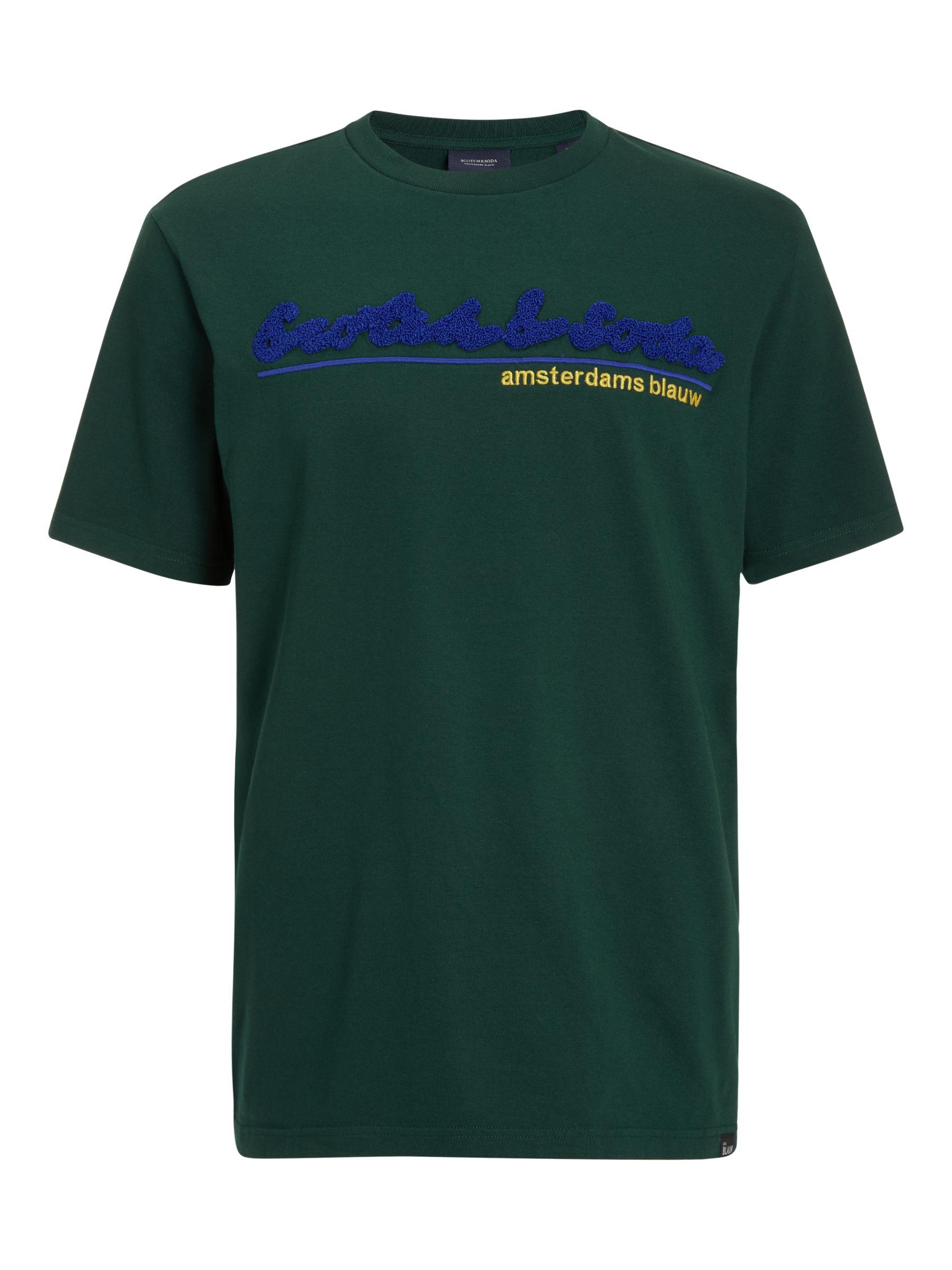 Scotch & Soda Scotch & Soda Logo T-Shirt, Green Smoke
