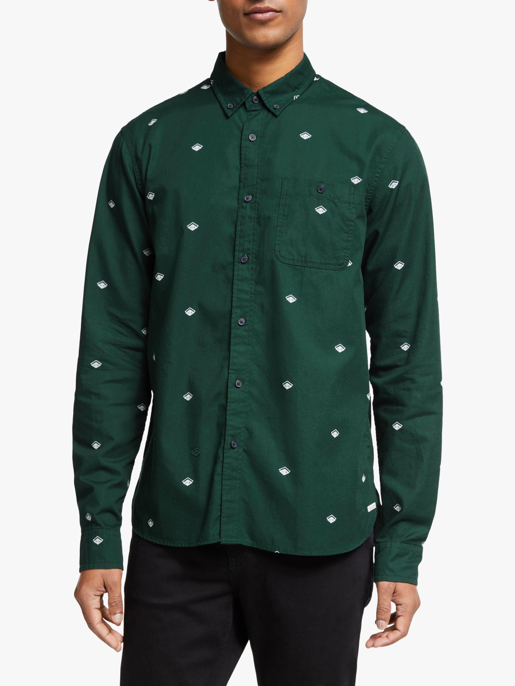 Scotch & Soda Scotch & Soda Abstract Print Shirt, Green