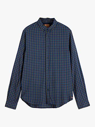 Scotch & Soda Lightweight Check Shirt, Blue