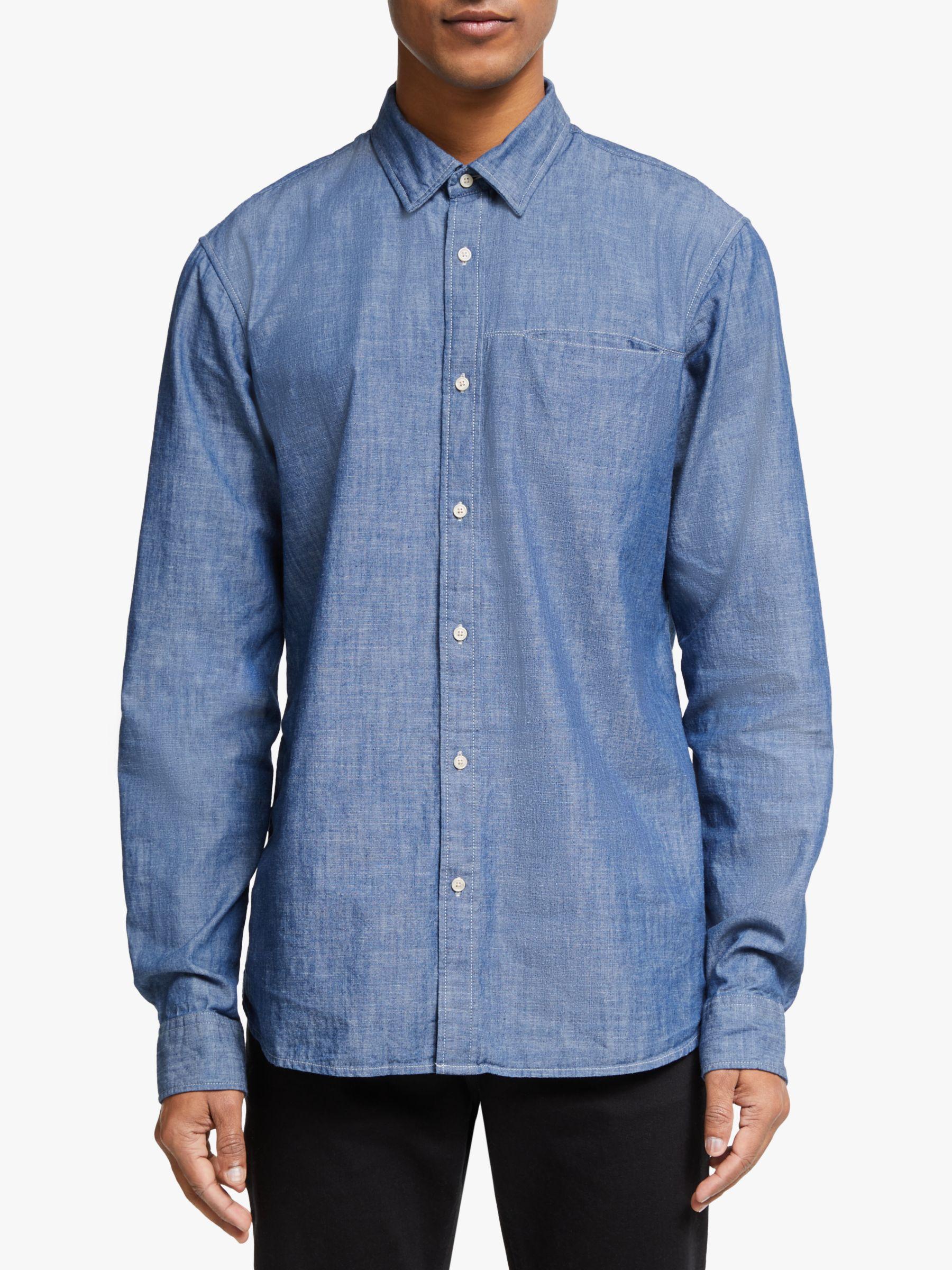 Scotch & Soda Scotch & Soda Cotton Shirt, Combo Blue