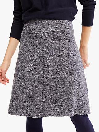 White Stuff Bay Knitted Skater Skirt, Grey/Blue