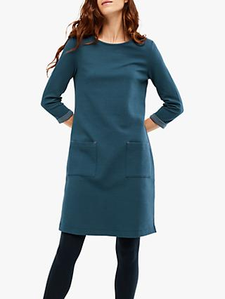 White Stuff Albie Jersey Dress, Kyoto Teal