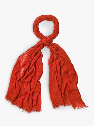 White Stuff Dreaming Away Scarf, Ginger Orange