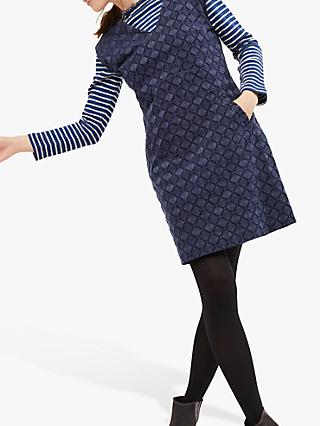 White Stuff Cotton Cord Pinny Dress, Opal Navy