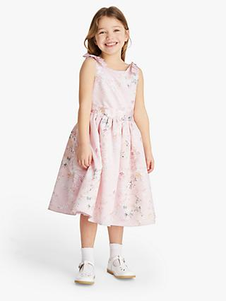 John Lewis & Partners Heirloom Collection Girls' Floral Bow Dress, Pink