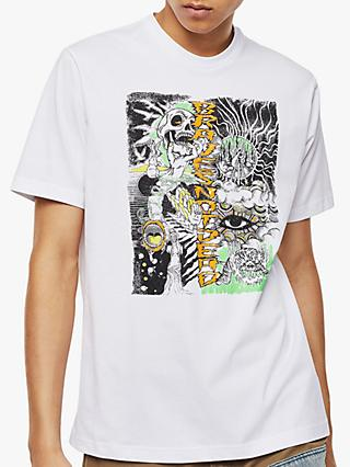 Diesel T-Just Sketched Graphic Print T-Shirt, White