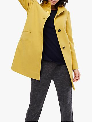 White Stuff Kenley Moleskin Coat, Yellow