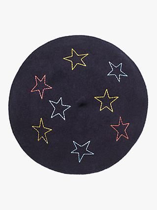 White Stuff Lucy Star Beret, Navy/Multi
