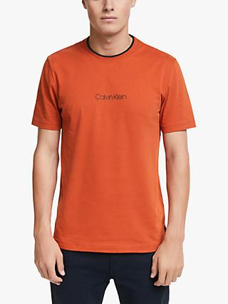 Calvin Klein Front Logo T-Shirt, Curried Pumpkin