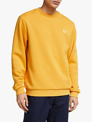 Fred Perry Terry Laurel Back Sweatshirt, Gold
