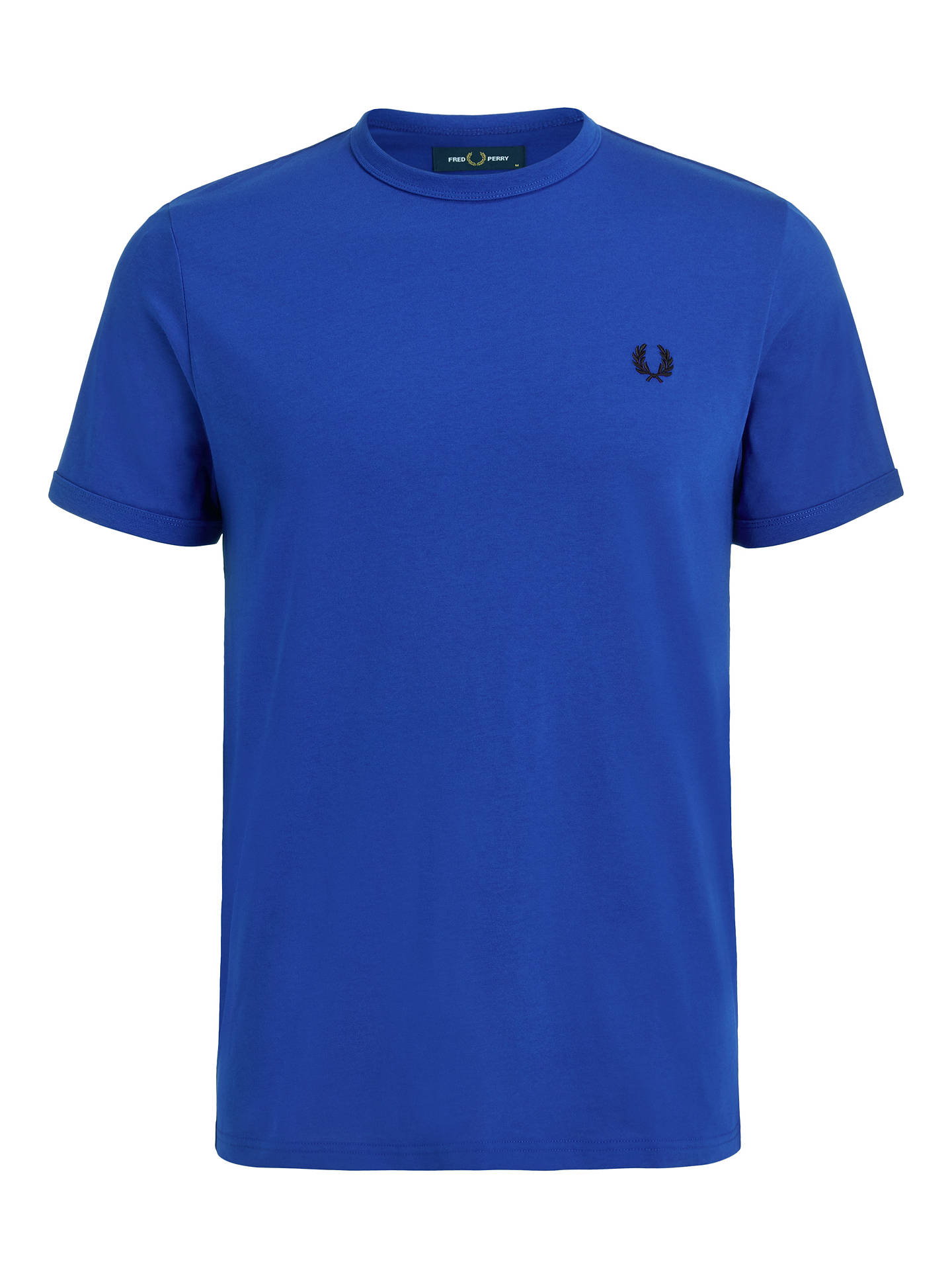 Buy Fred Perry Ringer Crew Neck T-Shirt, Bright Regal, S Online at johnlewis.com