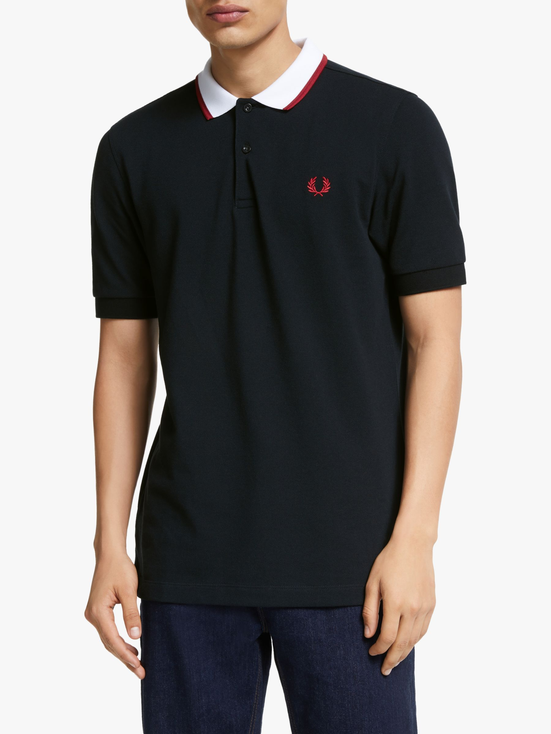 Fred Perry Fred Perry Contrast Collar Polo Shirt, Black