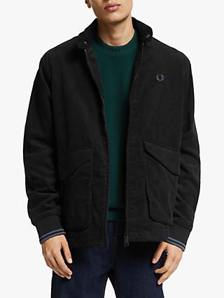 Fred Perry Cord Harrington Jacket, Black
