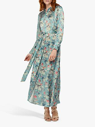Monsoon Wilhemina Shirt Dress, Blue