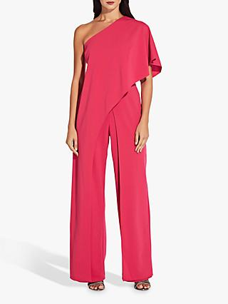 Adrianna Papell One Shoulder Jumpsuit, Geranium
