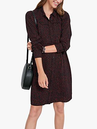 hush Matilda Spot Shirt Dress, Black/Red Dot