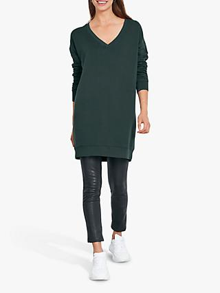 hush Vianne Tunic Top, Washed Black
