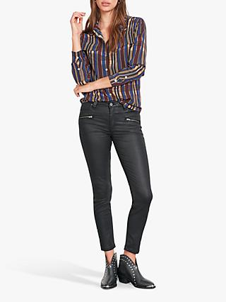 hush Coated Jeans, Black