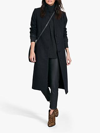 hush Isadora Tailored Coat, Charcoal
