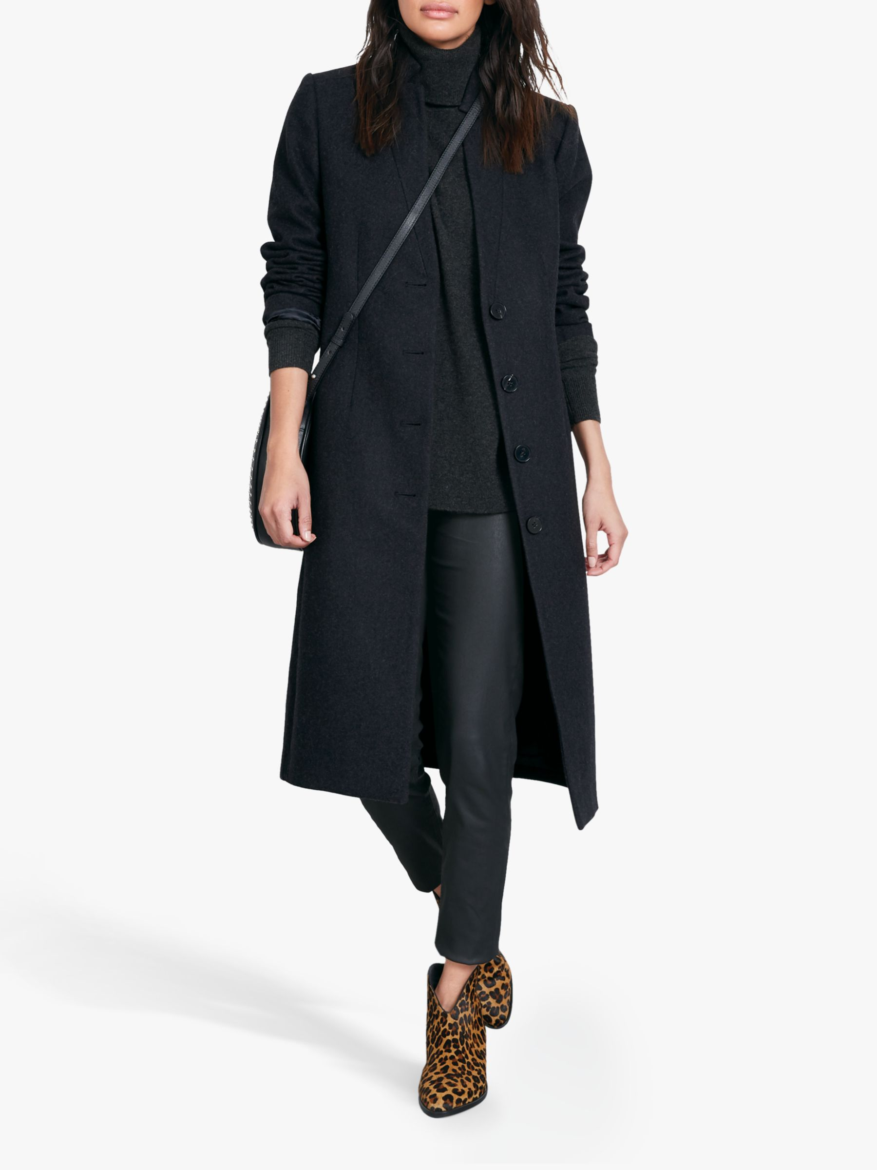 hush hush Isadora Tailored Coat, Charcoal