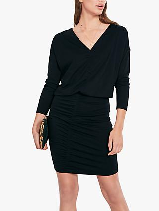 hush Anya V-Neck Dress, Black