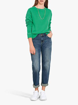 hush Rib Panel Sweat Top, Parakeet