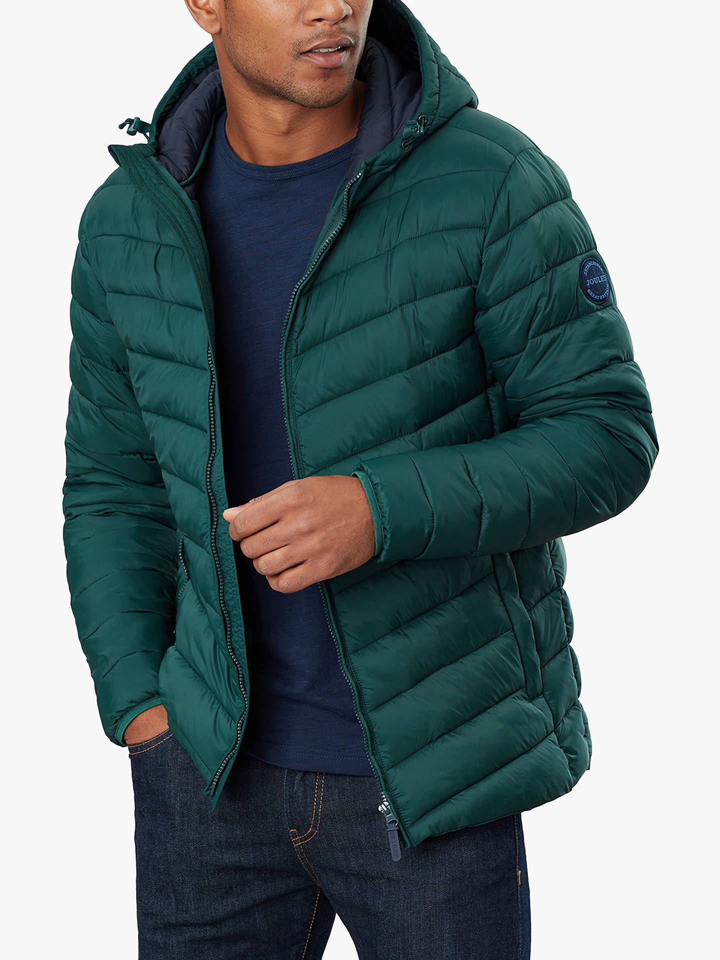 Joules Mens Hooded Go To Padded Coat in PORT